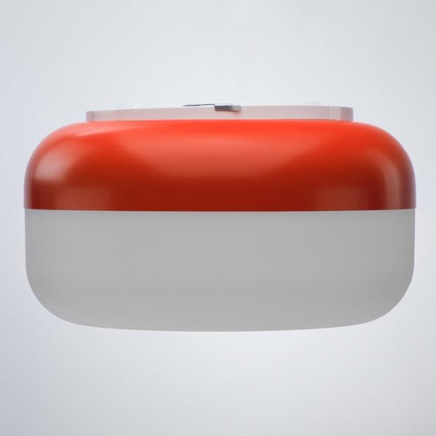 Nástěnná lampa Korona, červená