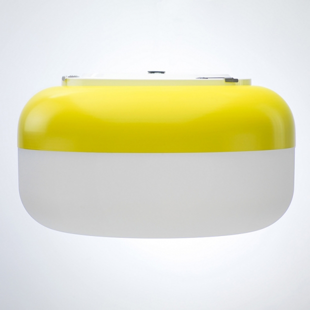 Nástěnná lampa Korona, žlutá