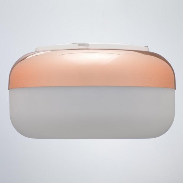 Nástenná lampa Korona, medená