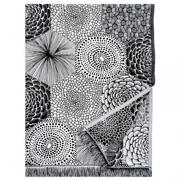 Deka Ruut 140x240, černo-bílá
