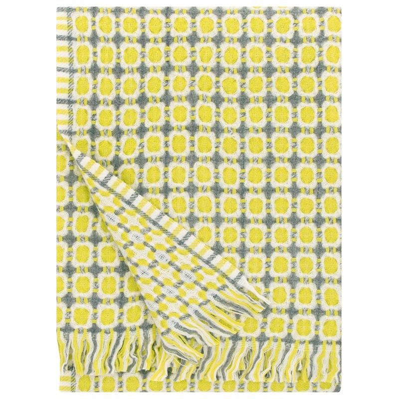 Vlnená deka Corona 130x170, žltá