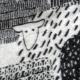 Vlněná deka Päkäpäät 130x180, černo-bílá