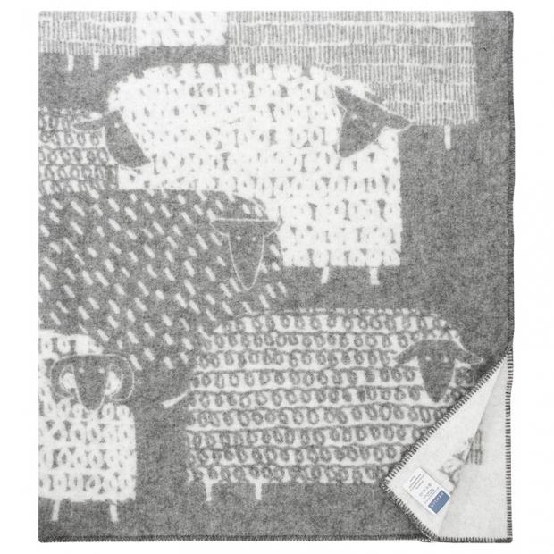 Vlnená deka Päkäpäät 130x180, sivo-biela