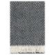 Vlnená deka Iida 130x200, čierna
