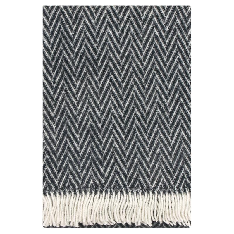 Vlněná deka Iida 130x200, černá