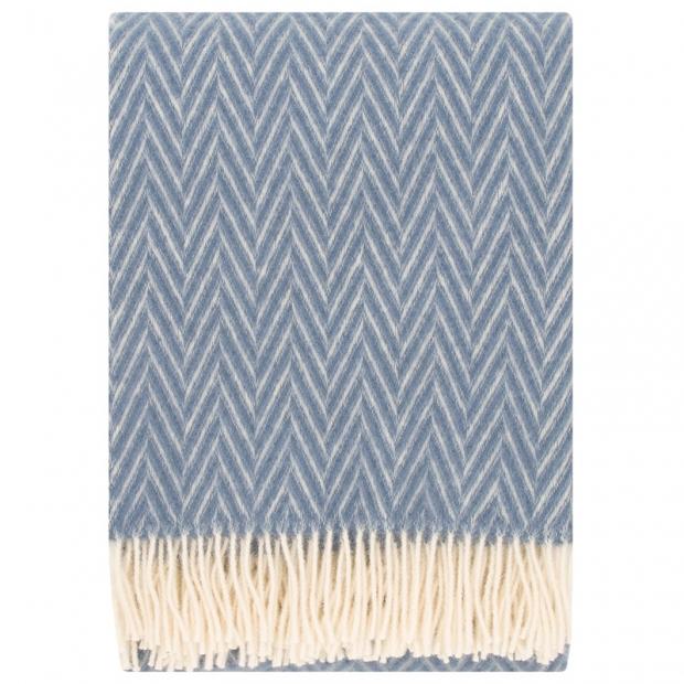 Vlnená deka Iida 130x200, modrá