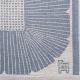 Obrus Anemone 35x35, sivo-modrý
