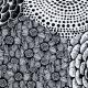 Utěrka Ruut 48x70, černo-bílá
