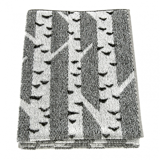 Osuška Koivu 75x150, čierno-biela