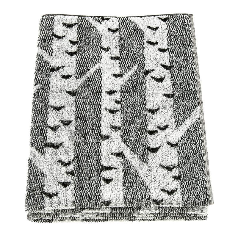 Osuška Koivu 75x150, černo-bílá