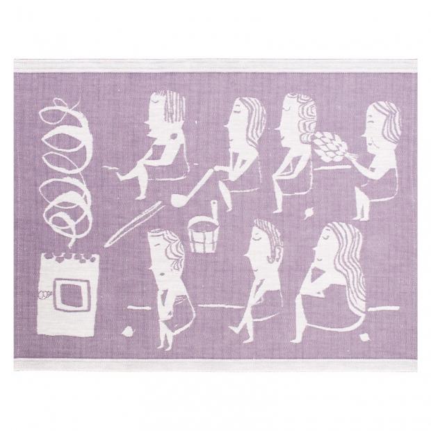Podložka do sauny Naisten 46x150, fialová
