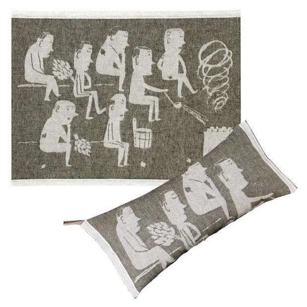 Podložka do sauny Miesten 46x60, sivá