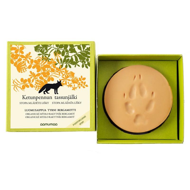 Prírodné mydlo so stopou líšky 85g, rakytník bergamot