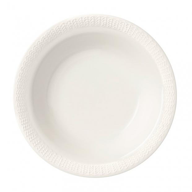 Hluboký talíř Sarjaton Letti 22cm, bílý