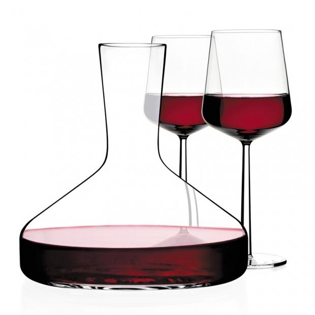 Sada dekanteru a 2 sklenic na červené víno Essence