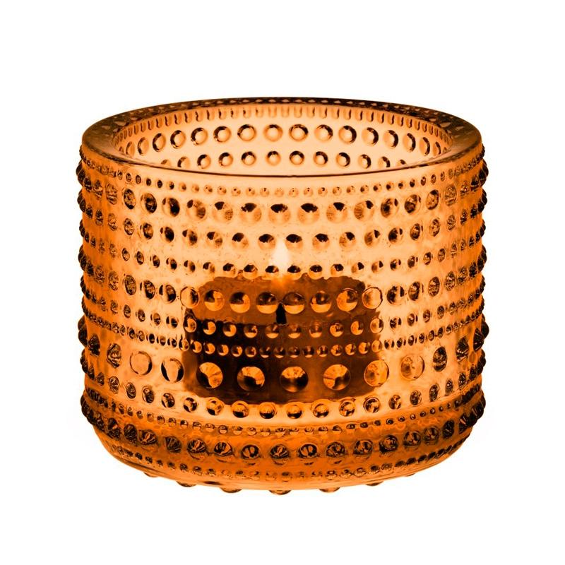 Svícen Kastehelmi, oranžový