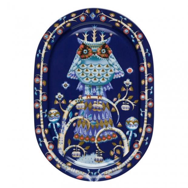 Servírovací tanier Taika 41cm, oválny / modrý