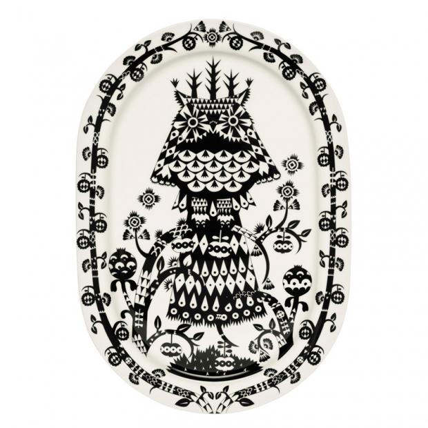 Servírovací tanier Taika 41cm, oválny / čierny