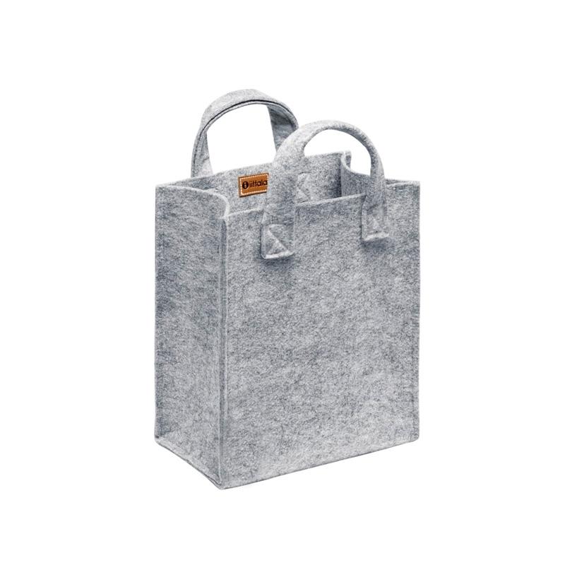 Plstěná taška Meno, malá / šedá