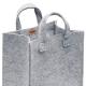Plstěná taška Meno, střední / šedá