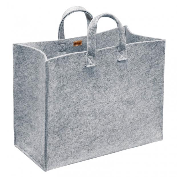 Plstená taška Meno, veľká / sivá