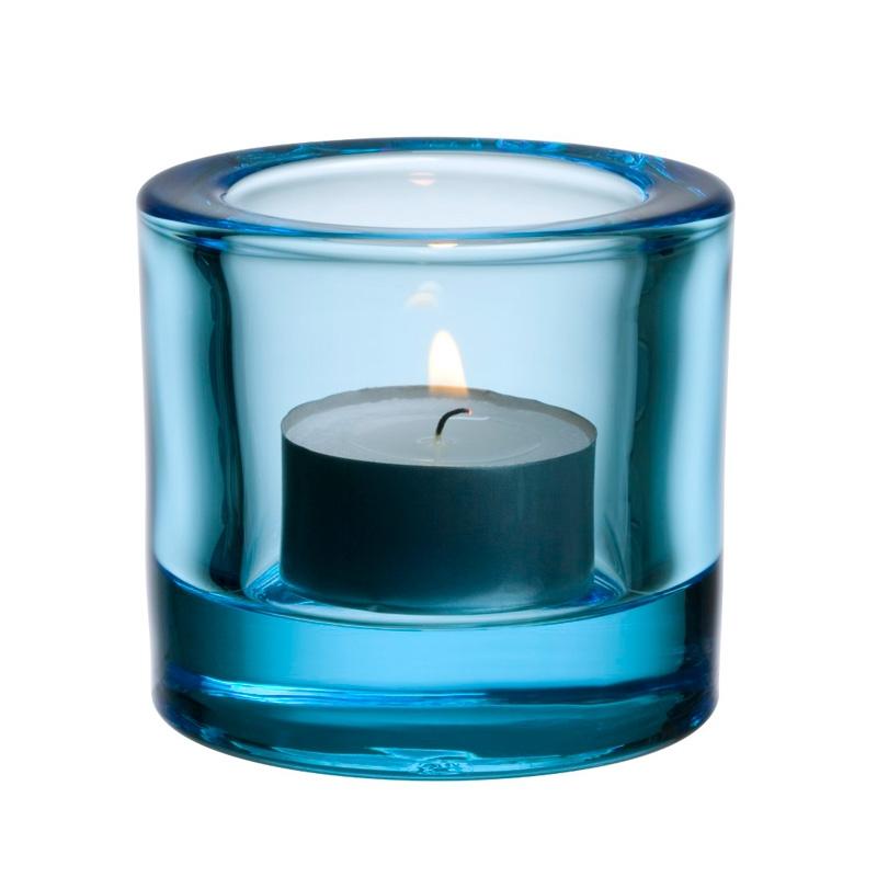 Svícen Kivi, světle modrý