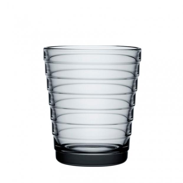 Sklenice Aino Aalto 0,22l, 2ks, šedé