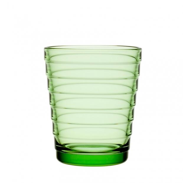 Sklenice Aino Aalto 0,22l, 2ks, světle zelené