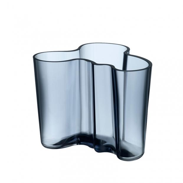 Váza Alvar Aalto 120mm, modrá rain