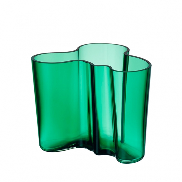Váza Alvar Aalto 120mm, smaragdová