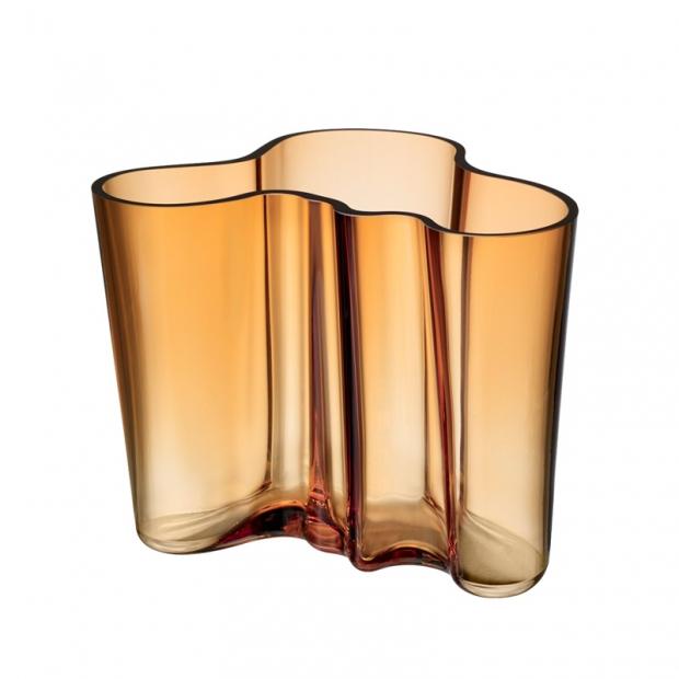 Alvar Aalto váza 160mm, zlatá desert