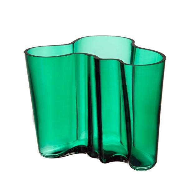 Váza Alvar Aalto 160mm, smaragdová