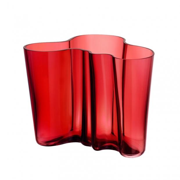 Váza Alvar Aalto 160mm, brusinková