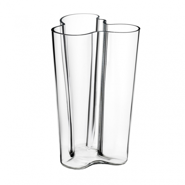 Váza Alvar Aalto 251mm, čirá