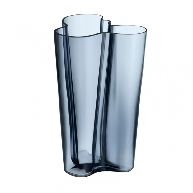 Váza Alvar Aalto 251mm, modrá rain