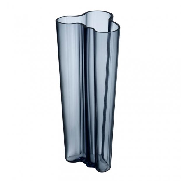 Váza Alvar Aalto 255mm, modrá rain