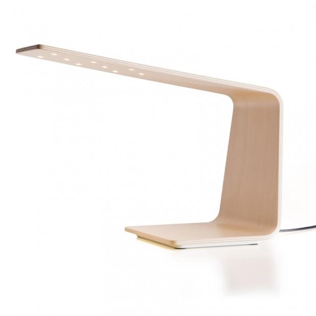 Stolná lampa LED1, breza