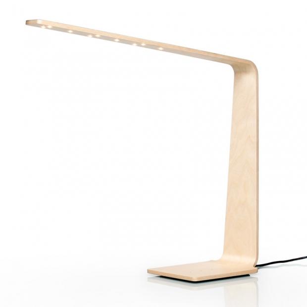 Stolná lampa LED4, breza