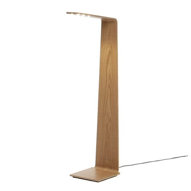 Stojací lampa LED2, dub