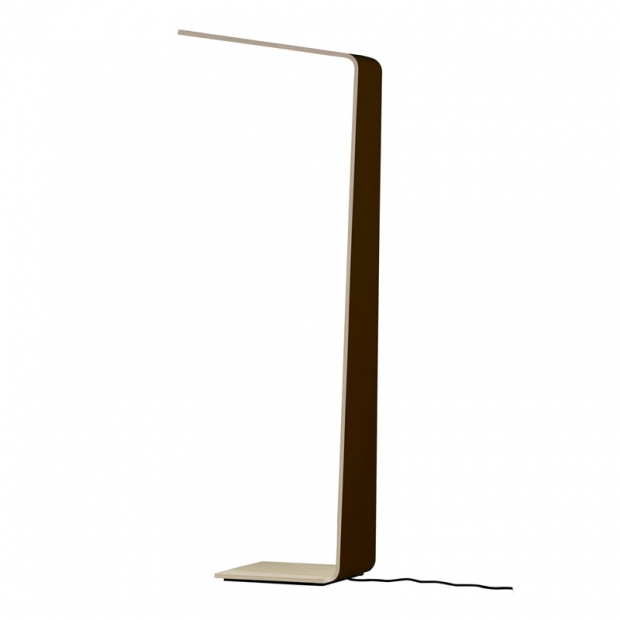 Stojací lampa LED2, černá / dub