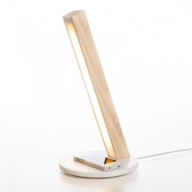 Stolná lampa LED40 Qi, dub