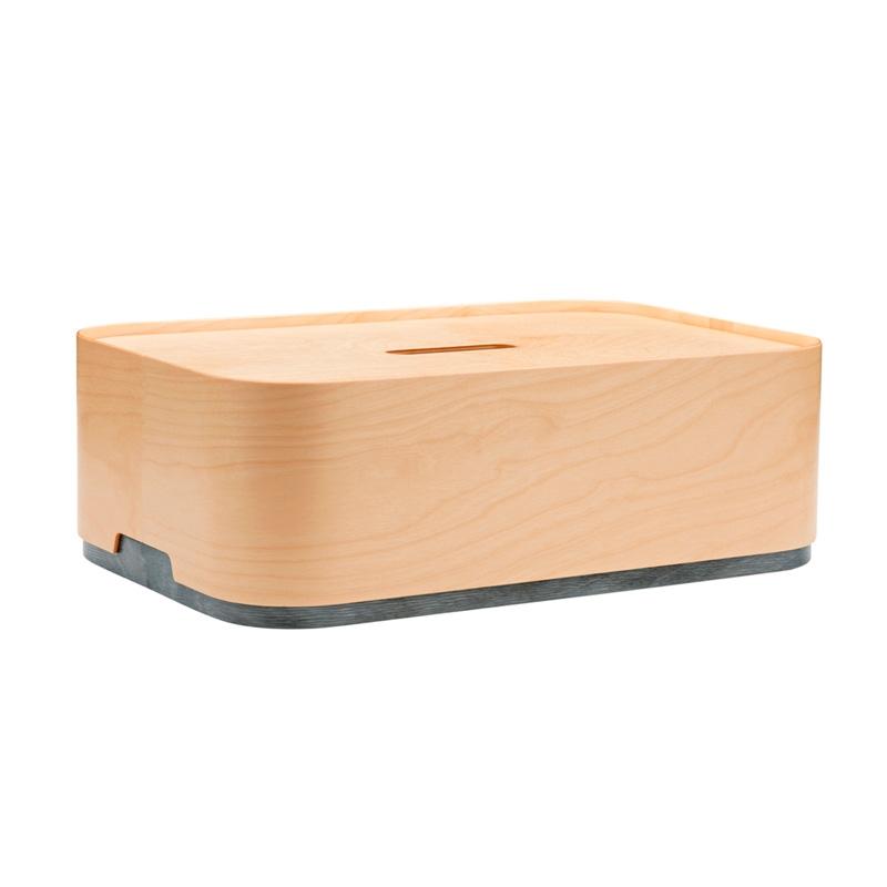 Úložný box Vakka 45x15x30, drevo / sivý