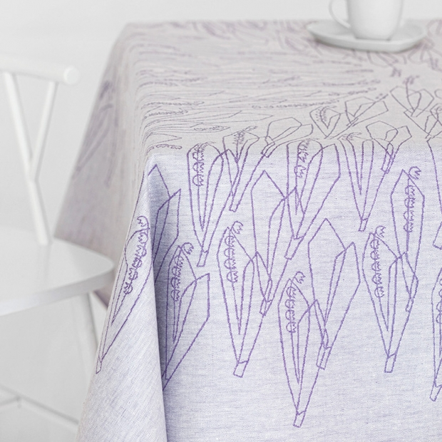 Ubrus Kielo 150x150, fialový