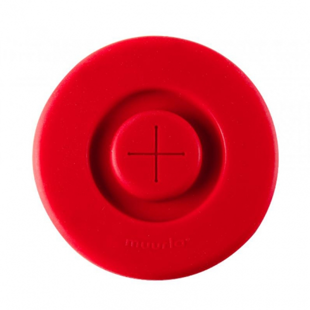 Silikonové víčko na hrnek, červené