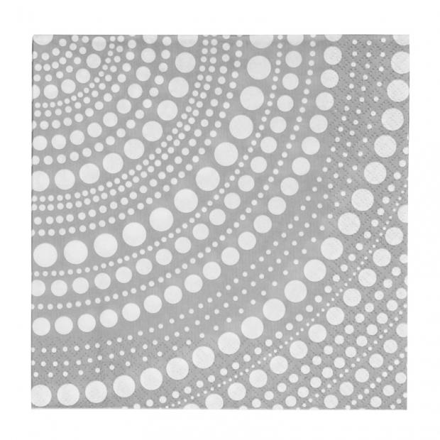 Servítky Kastehelmi 33x33, sivé