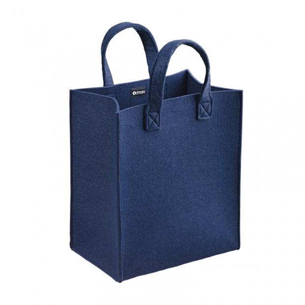 Plstěná taška Meno, střední / modrá rain