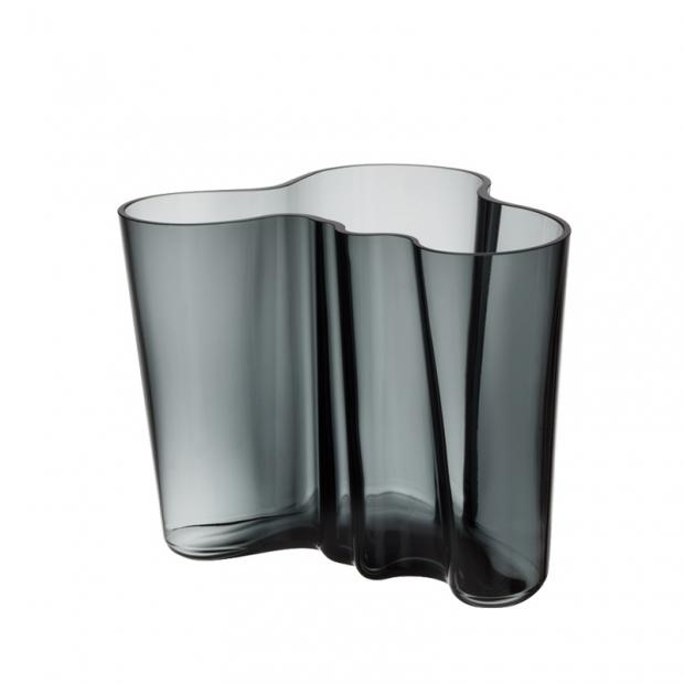 Váza Alvar Aalto 160mm, tmavo sivá