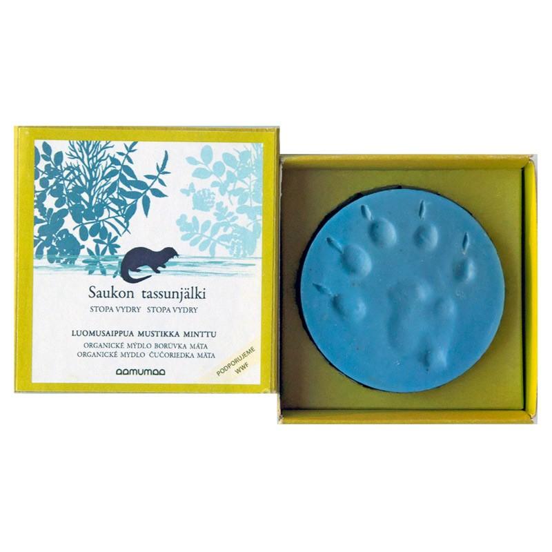 Prírodné mydlo so stopou vydry 85g, čučoriedka mäta