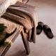 Pantofle do sauny Onni L, tmavě šedé