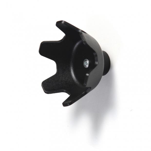 Nástenný vešiak Tripla C, čierny